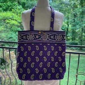 Vera Bradley purple paisley tote. Retired print.